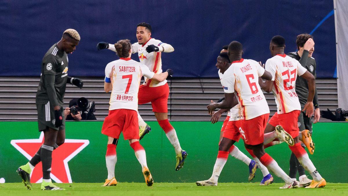 Justin Kluivert a marcat în Leipzig - Manchester United 3-2