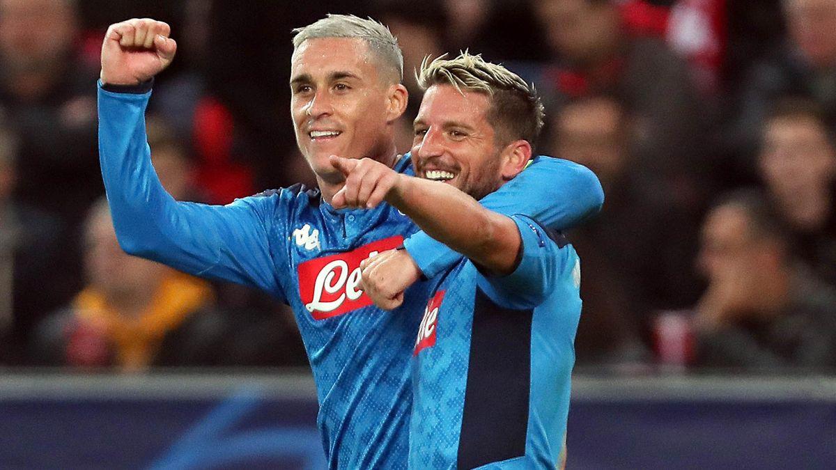 Mertens, Callejon - Red Bull Salzburg-Napoli - Champions League 2019/2020 - Getty Images