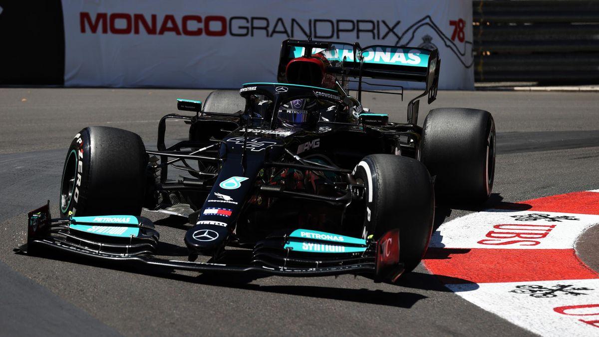 Lewis Hamilton (Mercedes) in Monaco