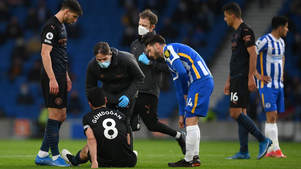 Gundogan suffered an injury against Brighton
