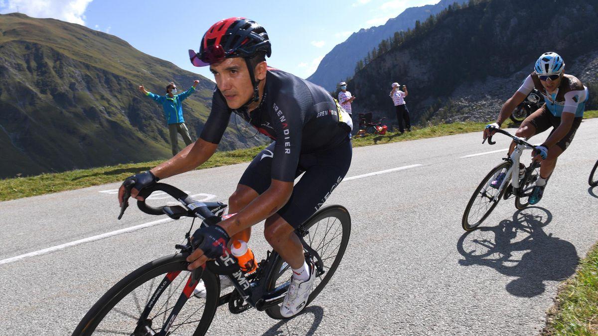 Richard Carapaz and Clement Venturini at the Tour de France