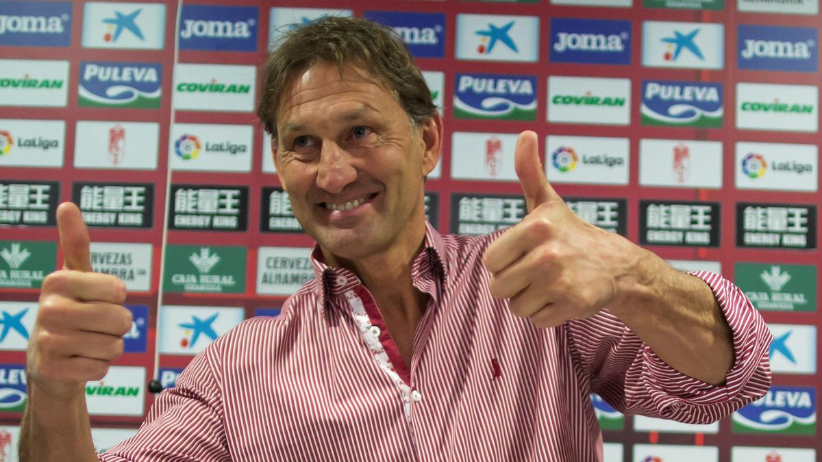 Tony Adams clearly delighted to have taken head coaching duties at Granada