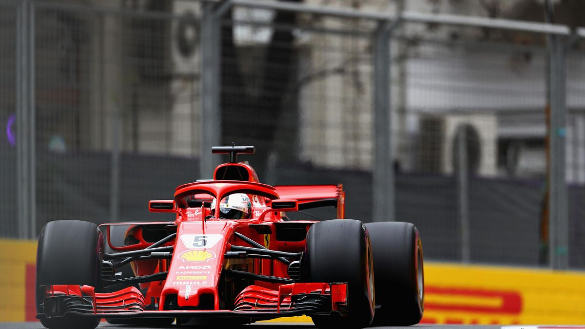Vettel durante el GP de Bakú