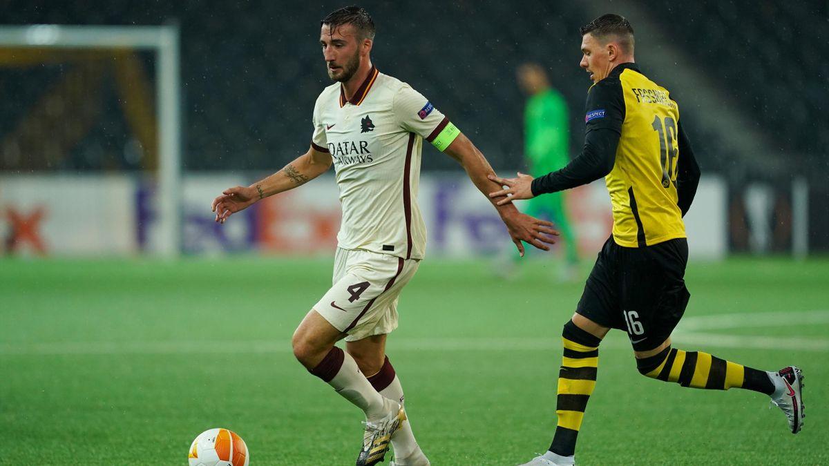Cristante in Young Boys-Roma, Europa League