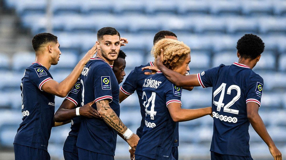 Mauro Icardi, buteur lors du match amical PSG - Séville FC (2-2)