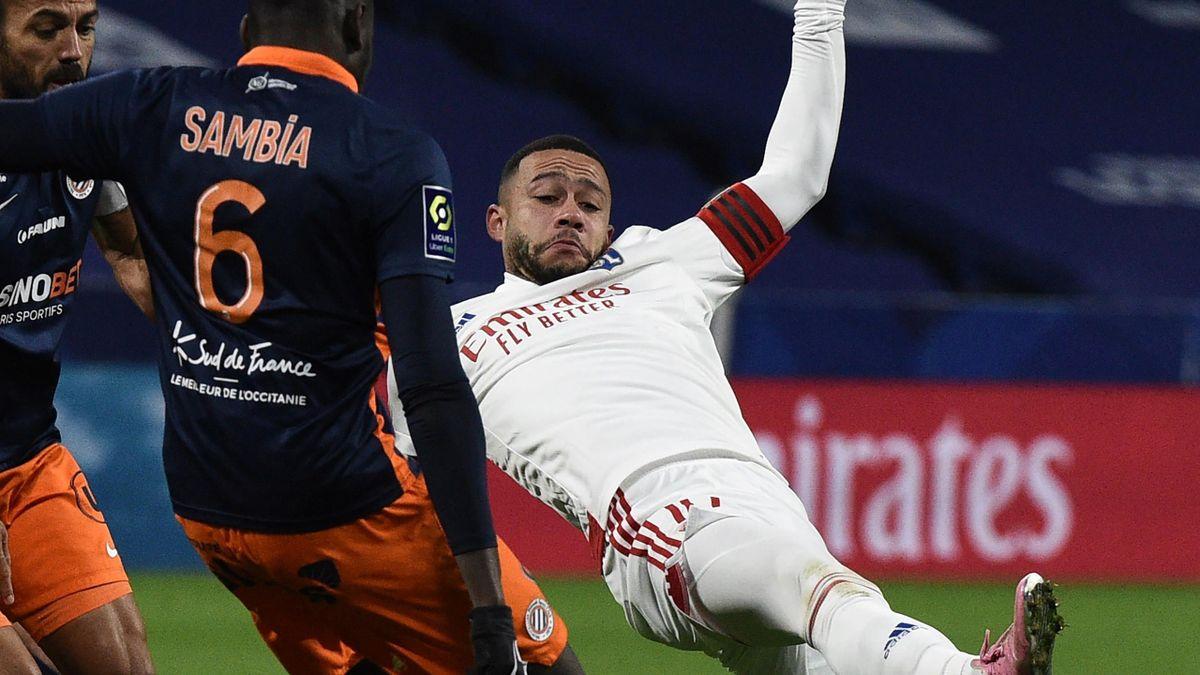 Memphis Depay, symbole des difficultés lyonnaises contre Montpellier