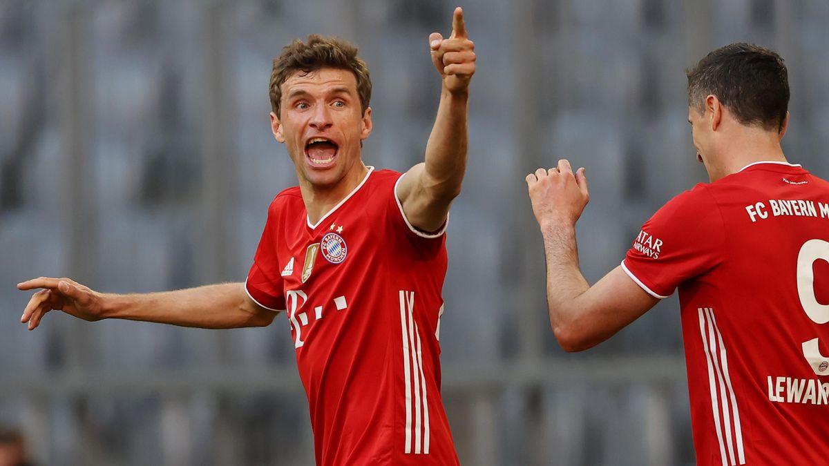 Thomas Müller (links) und Robert Lewandowski - FC Bayern