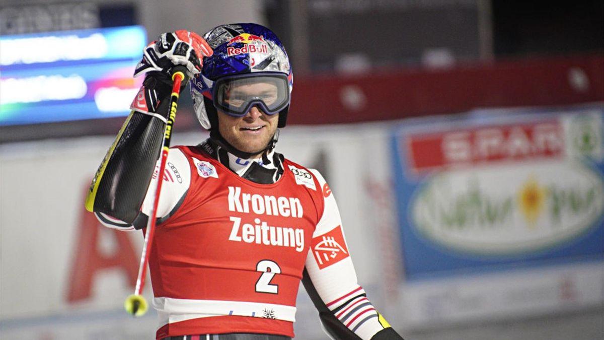 Alexis Pinturault, vainqueur du géant parallèle de Lech