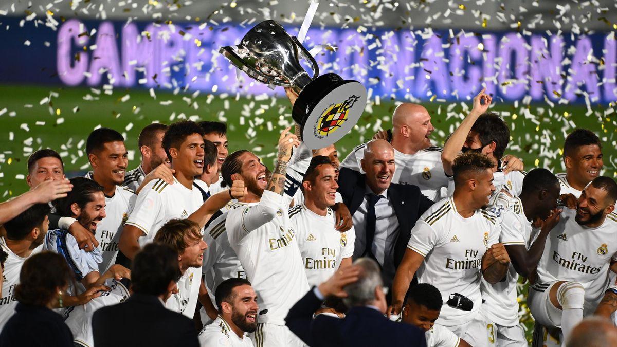 Real Madrid feiert die 34. Meisterschaft