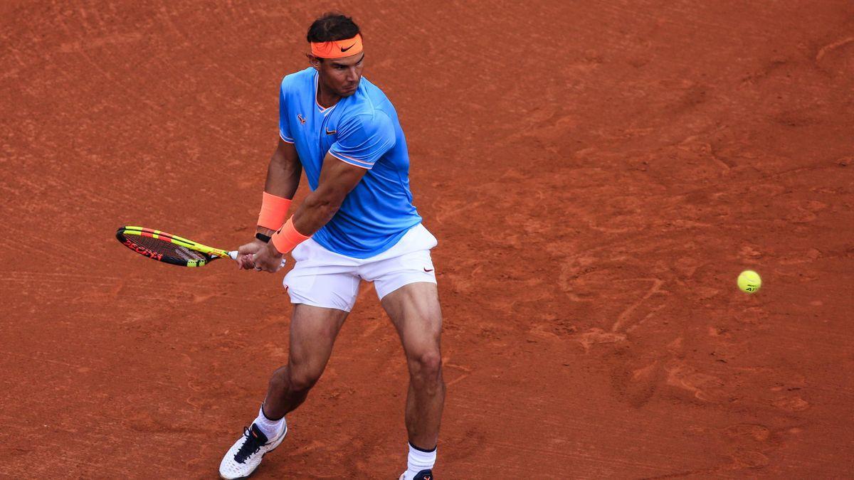 Rafael Nadal, lors de son huitième de finale face à David Ferrer - ATP Barcelone 2019
