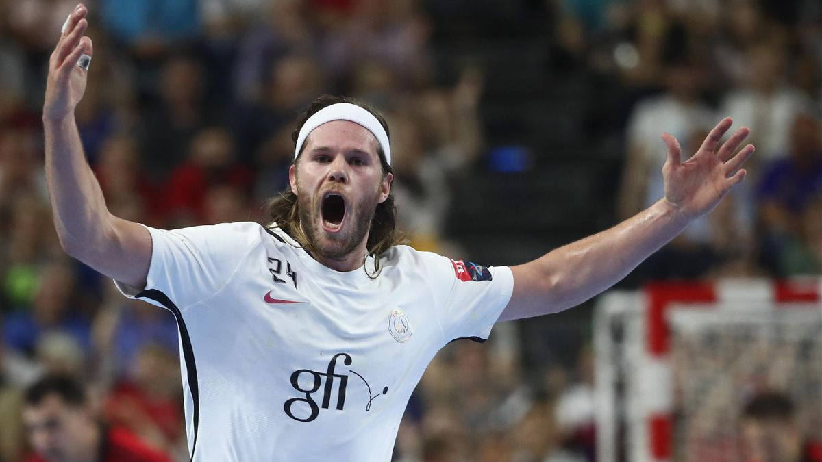 La joie de Mikkel Hansen durant la demi-finale de Ligue des champions contre Veszprem.