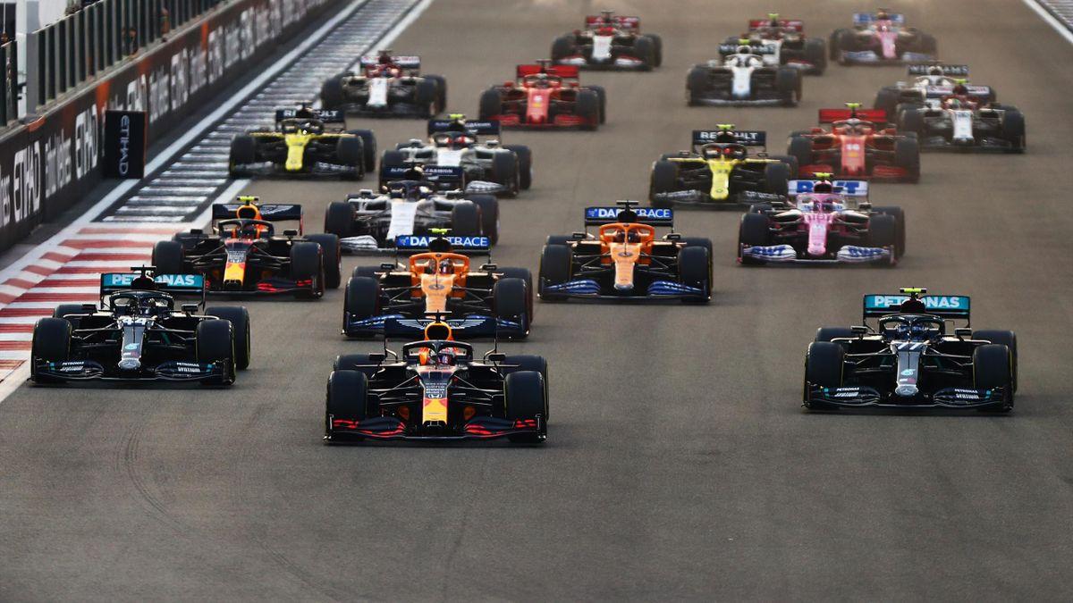 Le départ du Grand Prix d'Abou Dabi, le 13 décembre 2020