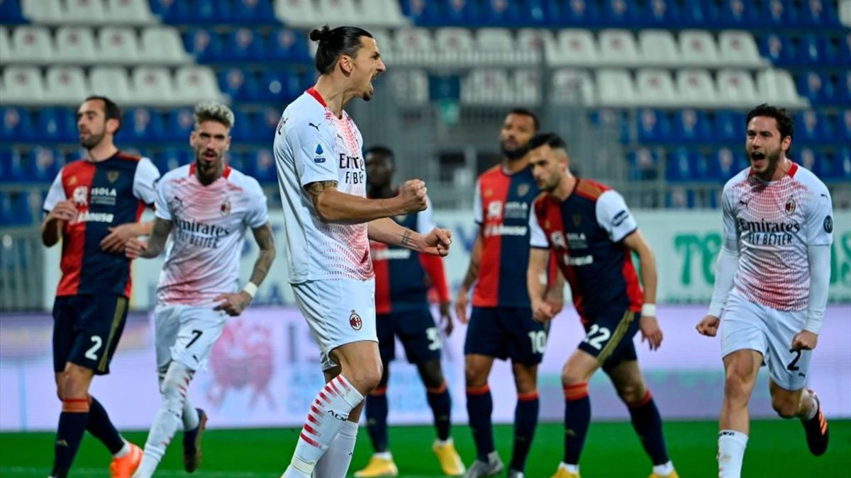 Ibrahimovic - Cagliari-Milan - Serie A 2020/2021 - Getty Images