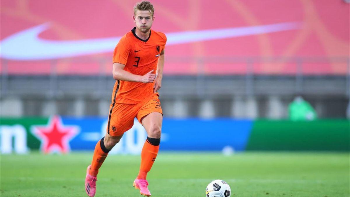 Matthijs de Ligt durante l'amichevole Paesi Bassi-Scozia