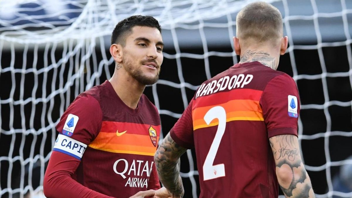 Lorenzo Pellegrini, Karsdorp - Roma-Spezia - Serie A 2020/2021 - Getty Images