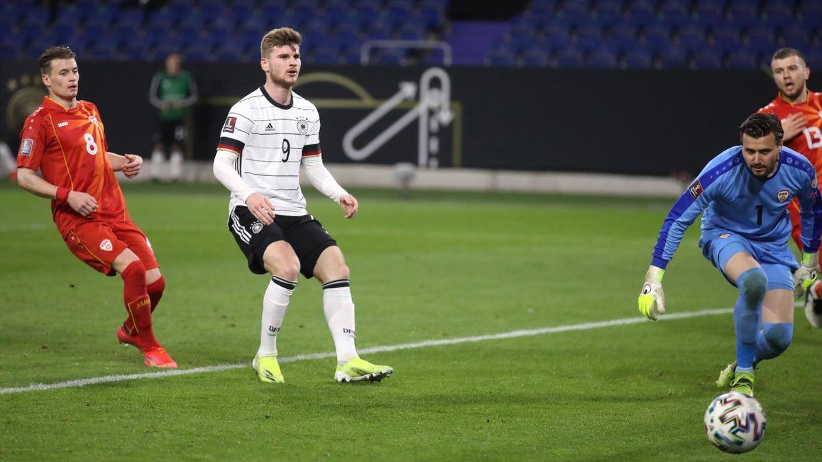 Timo Werner (DFB-Elf) im Spiel gegen Nordmazedonien