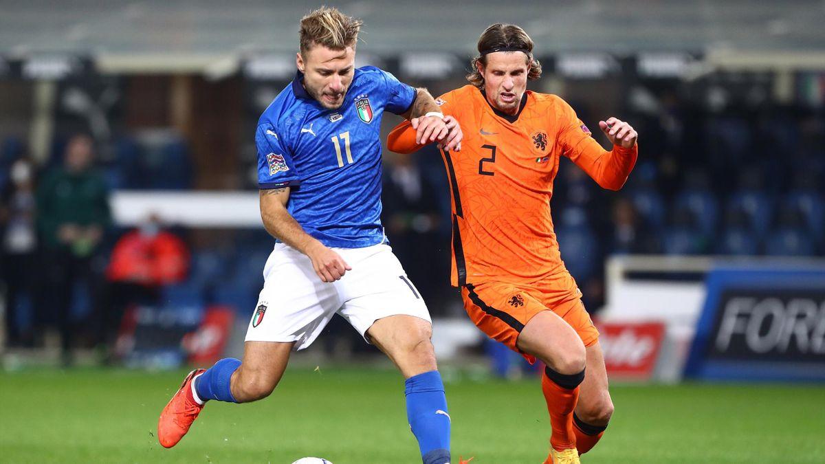 Immobile contro Hateboer in Italia-Olanda, Nations League