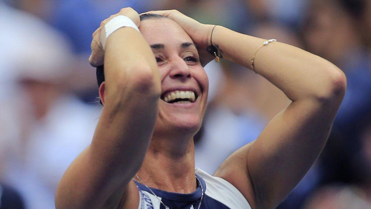 Flavia Pennetta, non ci può credere: ha appena vinto gli Us Open 2015