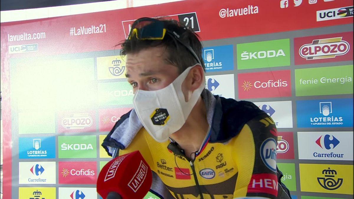 Vuelta a Espana : stage 11 - Interview post race Roglic (ENG)
