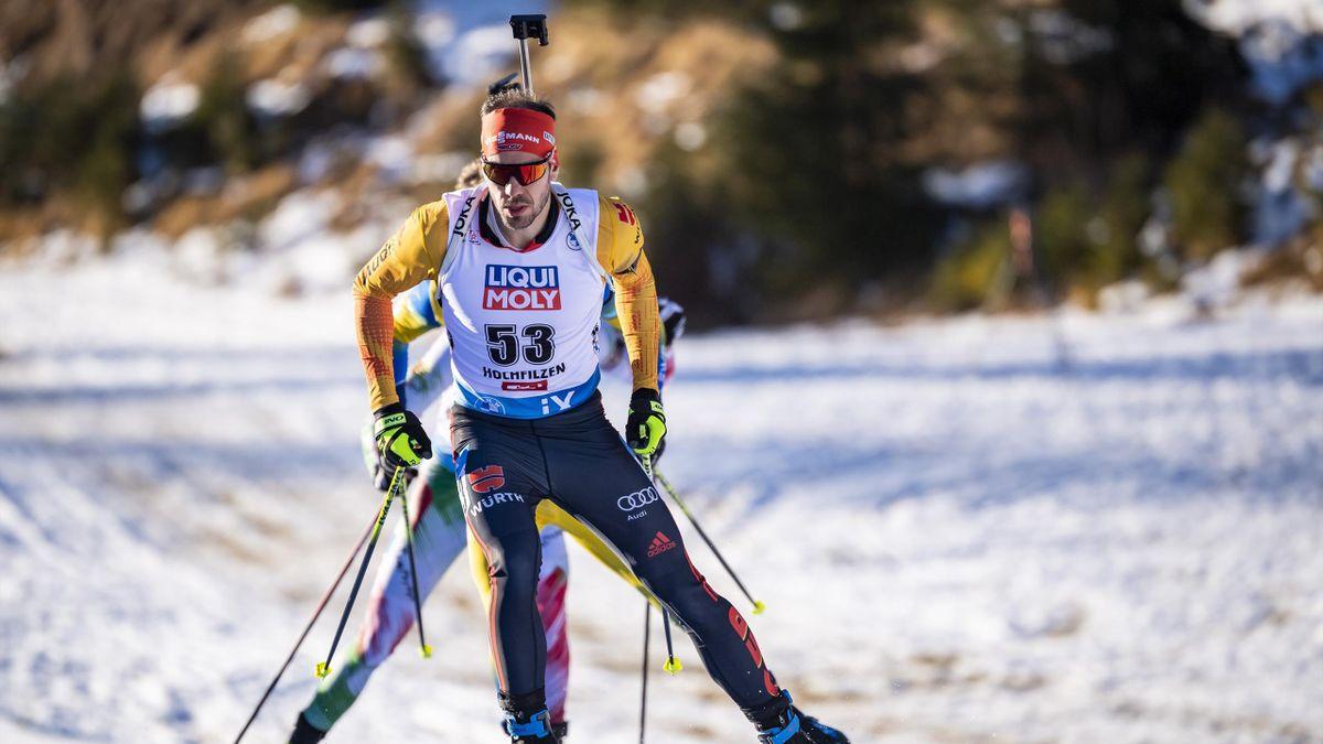 Arnd Peiffer beim Weltcup in Hochfilzen