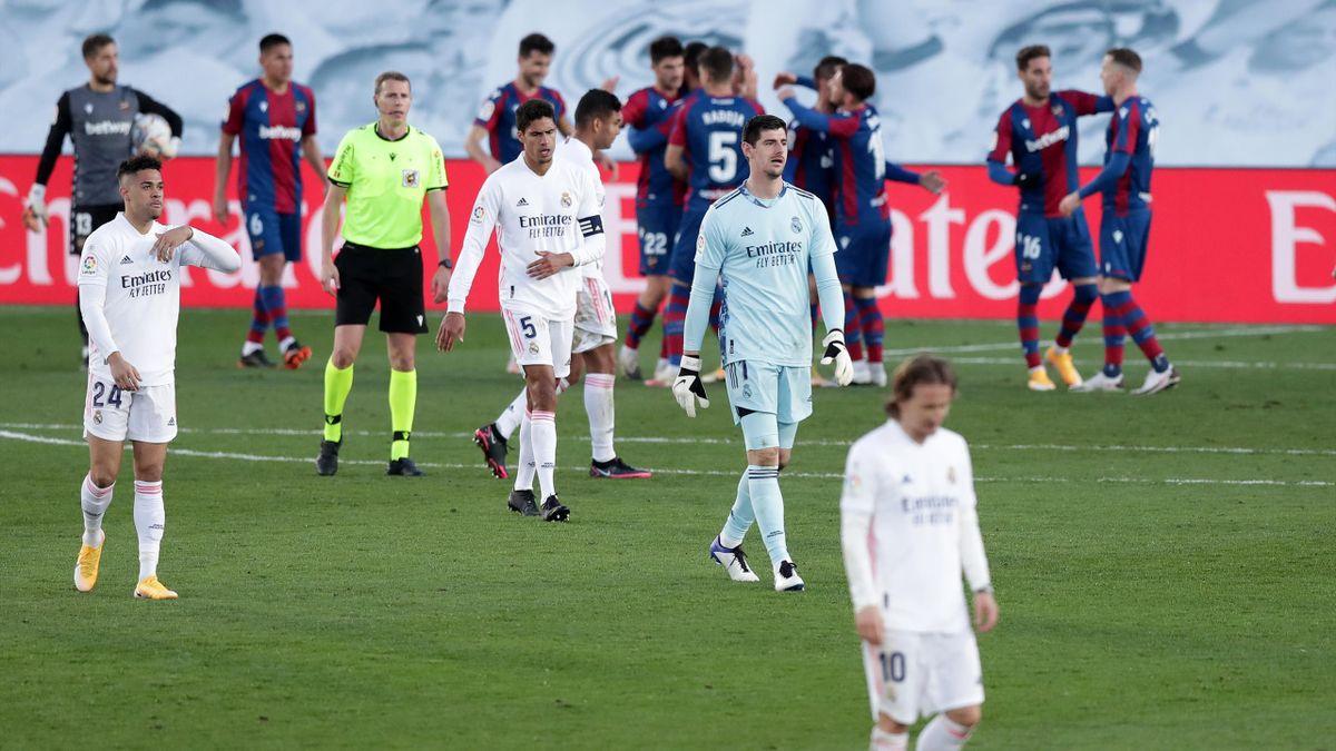 Le Real Madrid, battu à domicile le samedi 30 janvier par Levante (1-2), en Liga