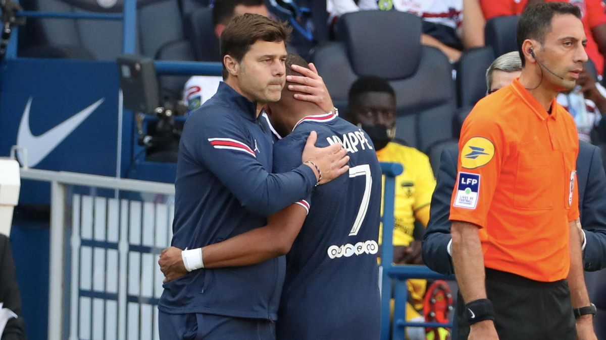 Mauricio Pochettino y Kylian Mbappé (PSG)