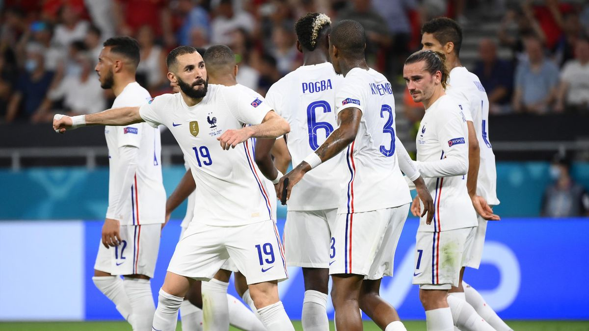 Benzema celebrates his equaliser