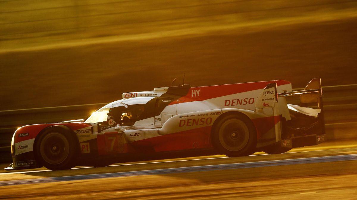 La Toyota #8 di Nakajima che ha vinto la 24 Ore di Le Mans
