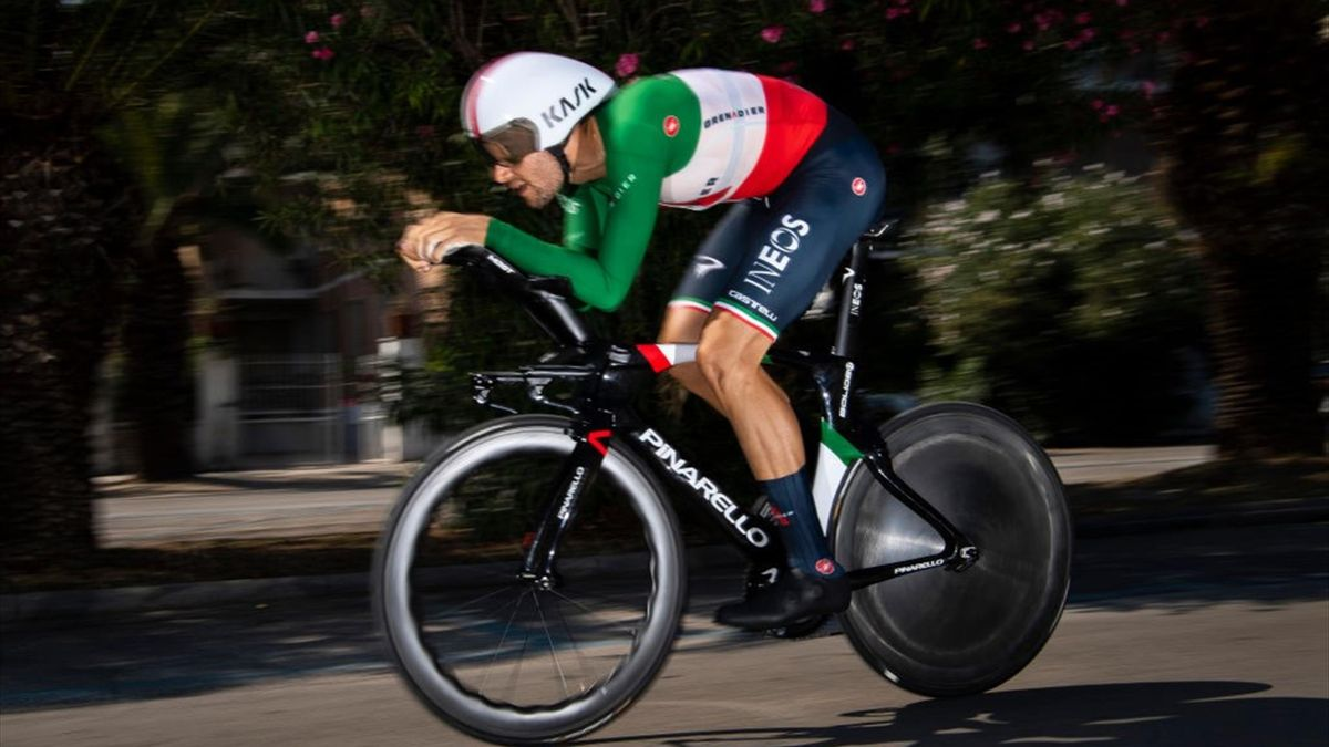 Filippo Ganna - 2020 Tirreno-Adriatico, stage 8 - individual time trial - Getty Images
