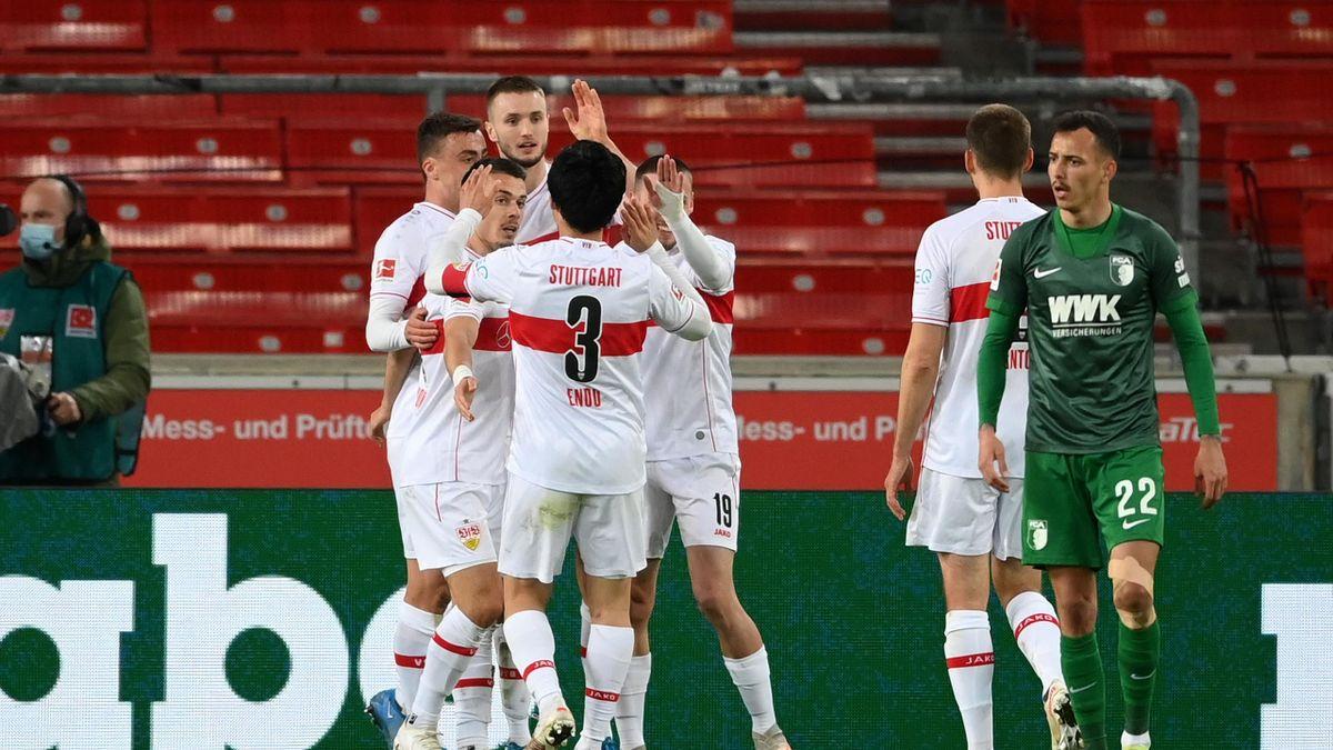 Stuttgart bejubelt das 2:1 von Sasa Kalajdzic - VfB Stuttgart vs. FC Augsburg