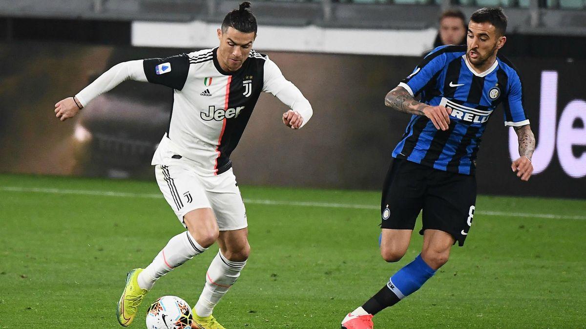 Cristiano Ronaldo (Juventus Turin) - Matias Vecino (Inter Milan)