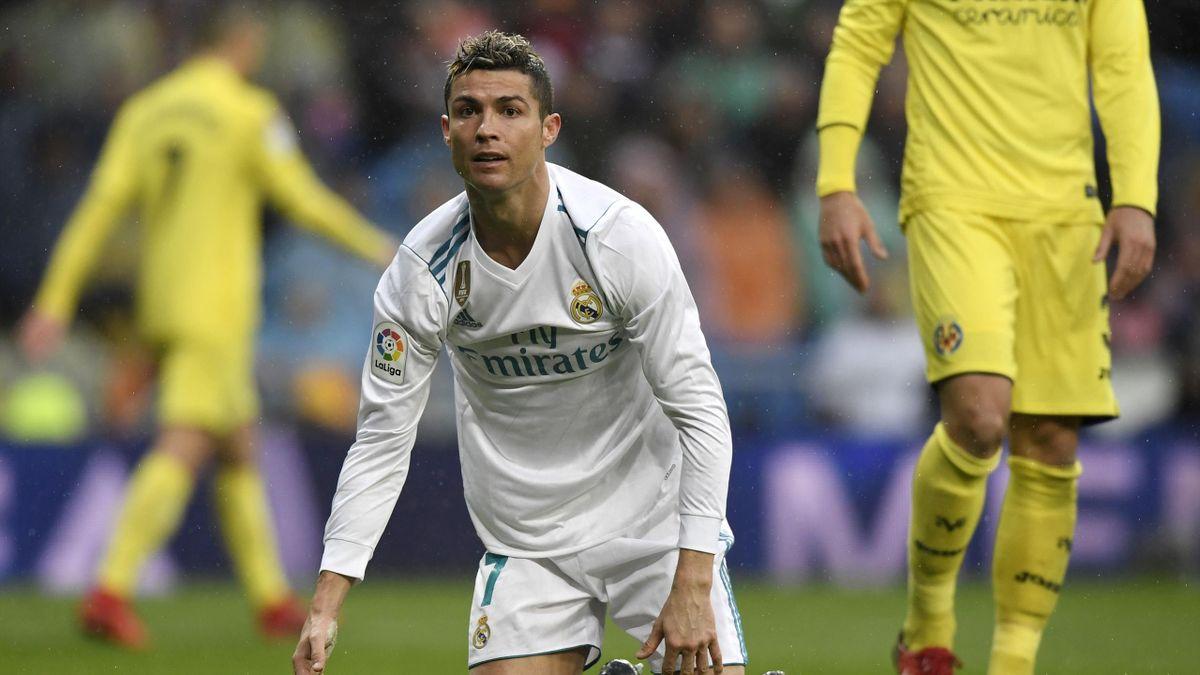 Cristiano se lamenta en el Real Madrid-Villarreal
