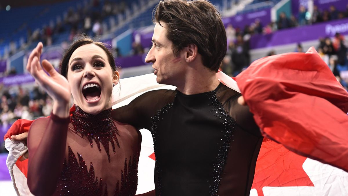 Olympia 2018 - Tessa Virtue (l.) and Scott Moir (r.) of Canada