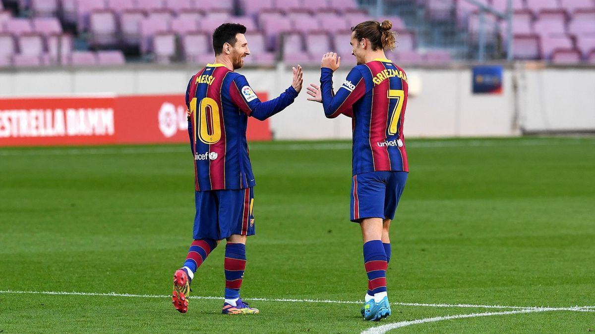 Leo Messi și Antoine Griezmann (Barcelona)