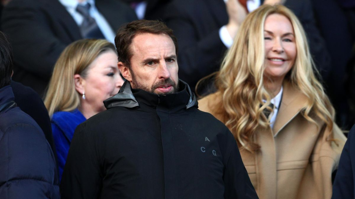 England Manager, Gareth Southgate looks on during the Premier League match between Everton and Manchester United at Goodison Park on March 1, 2020 in Liverpool, United Kingdom.