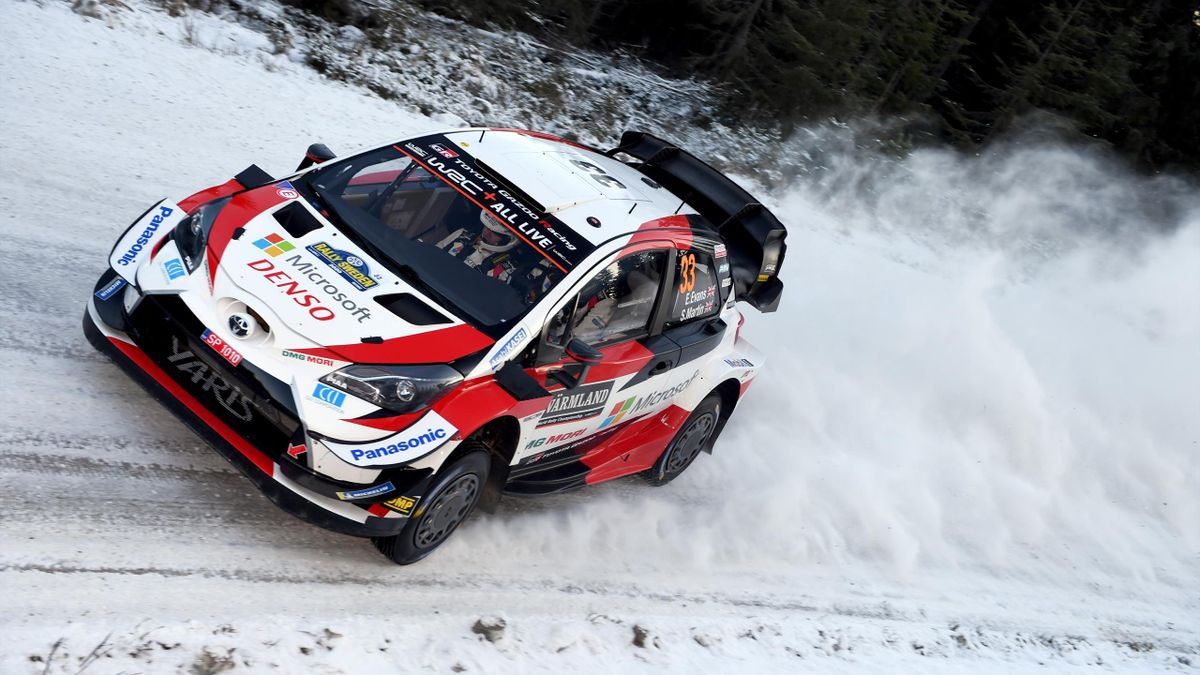 TORSBY, SWEDEN - FEBRUARY 14: Elfyn Evans of Great Britain and Scott Martin of Great Britain compete with their Toyota Gazoo Racing WRT Toyota Yaris WRC during Day One of the FIA Word Rally Championship Sweden on February 14, 2020 in TORSBY, Sweden. (Phot