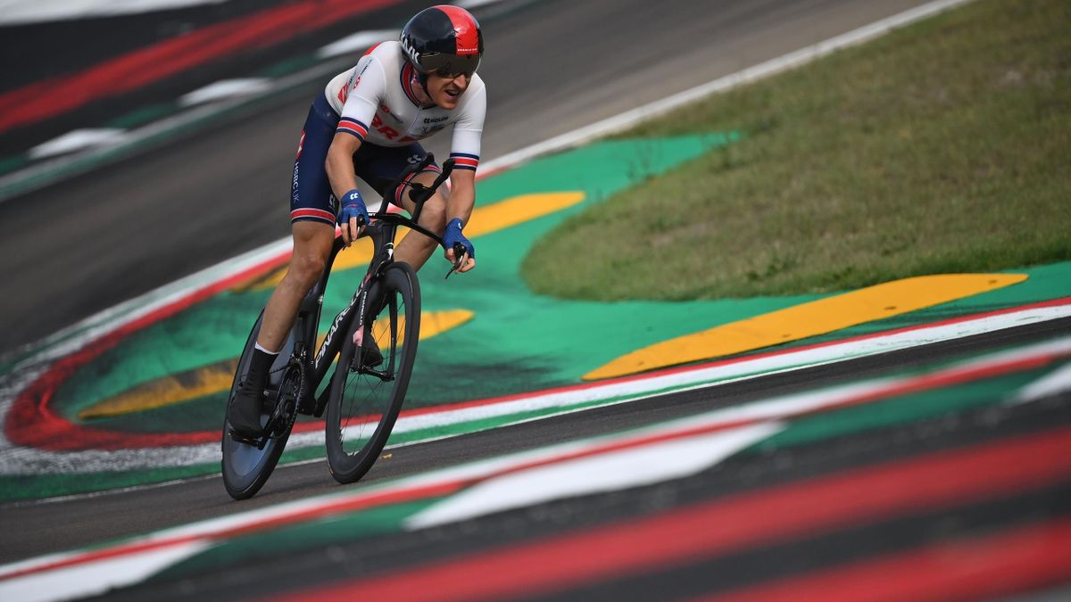 Great Britain's Geraint Thomas competes in the Men's Elite Individual Time Trial at the UCI 2020 Road World Championships in Imola, Emilia-Romagna, Italy, on September 25, 2020