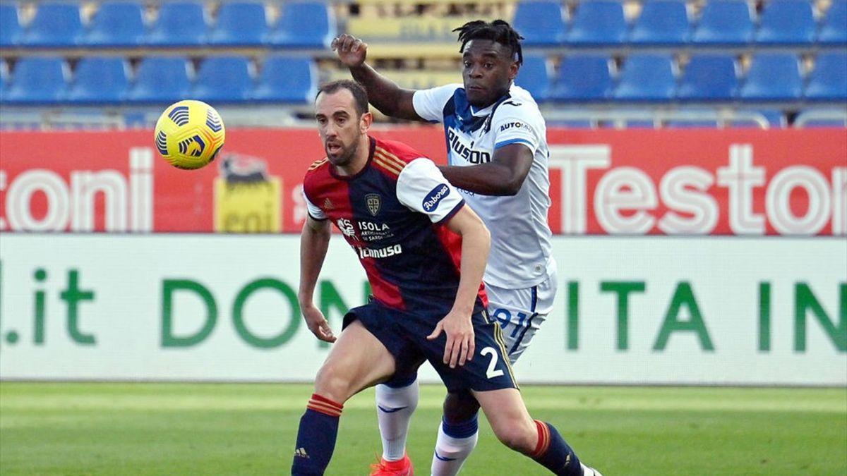 Diego Godin e Duvan Zapata - Cagliari-Atalanta Serie A 2020-21
