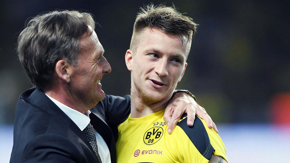 Hans-Joachim Watzke mit Marco Reus bei Borussia Dortmund