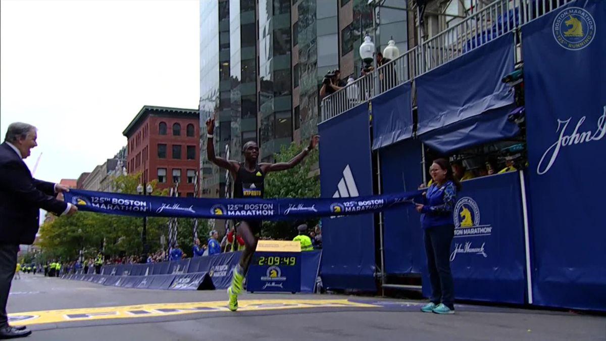 'He will be added to the list of legendary runners' - Kipruto wins men's race of Boston marathon