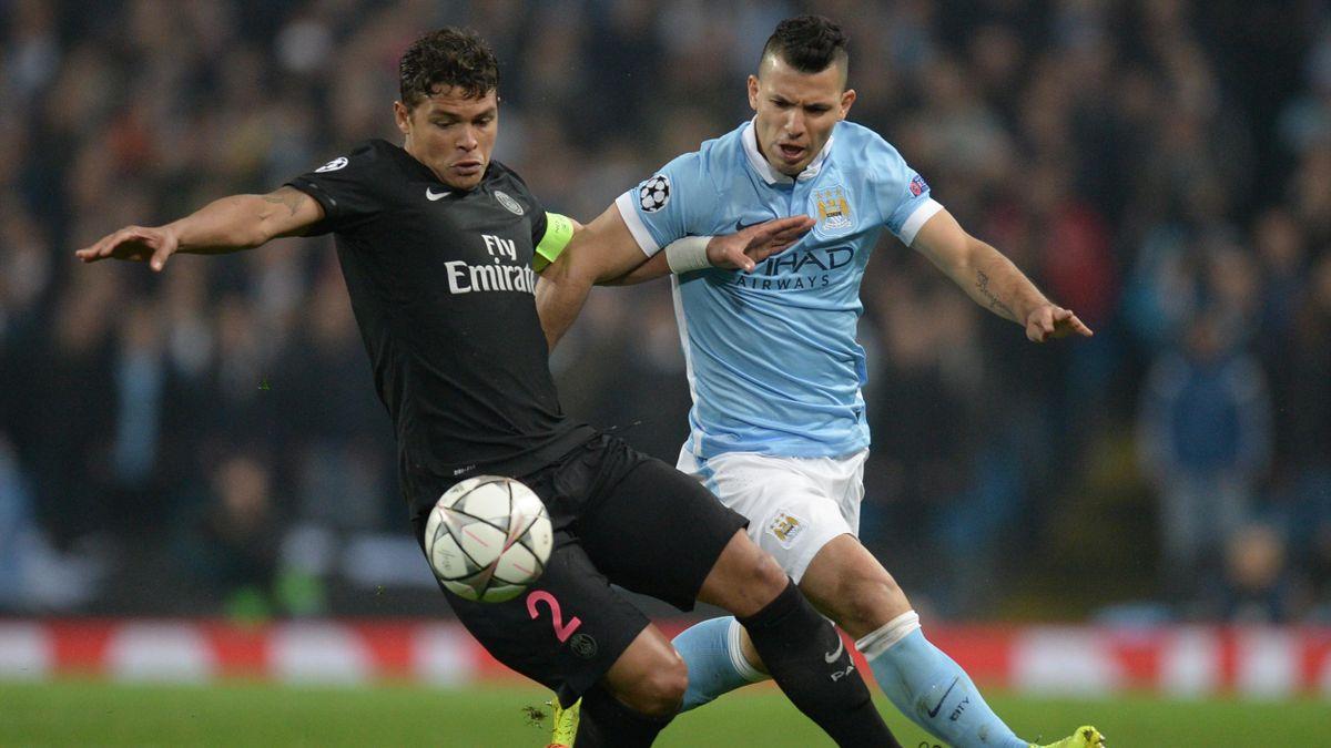 Thiago Silva (PSG) contre Kun Agüero (Manchester City)