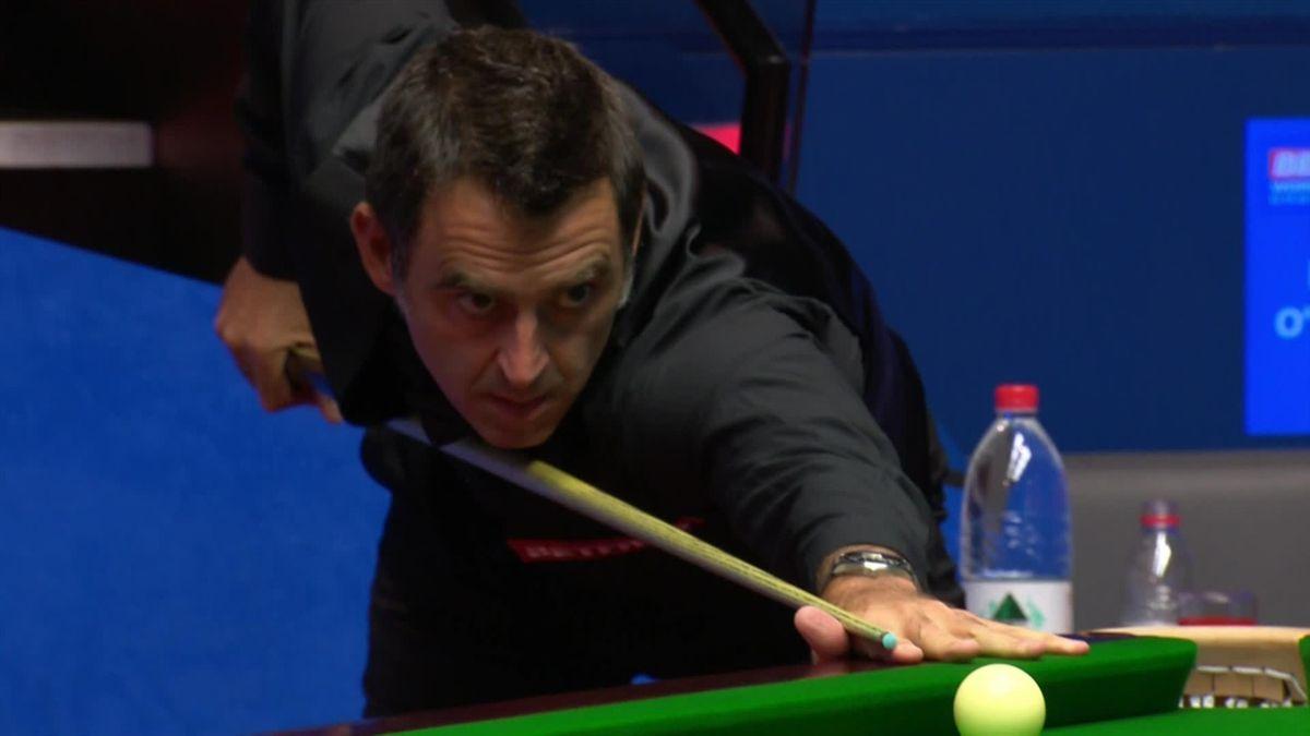 World Championship: Ronnie O' Sullivan does a nice positionnal shot