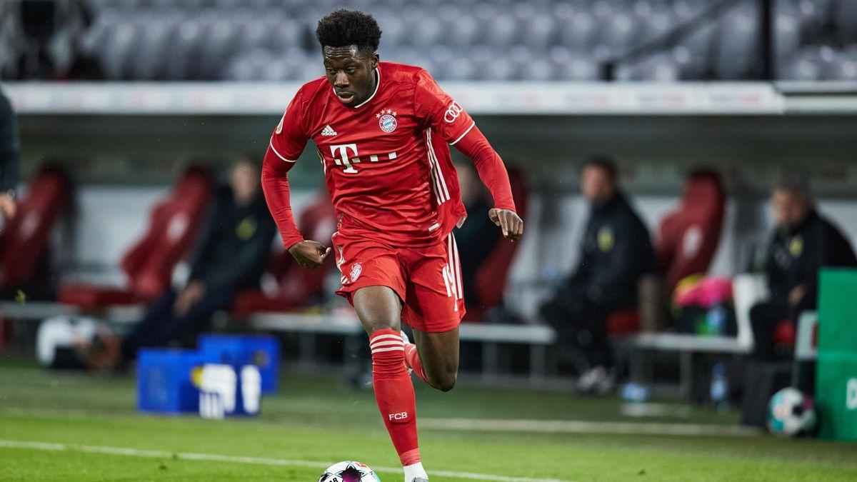 Alphonso Davies lors d'un match de Coupe avec le Bayern Munich, le 15 octobre 2020