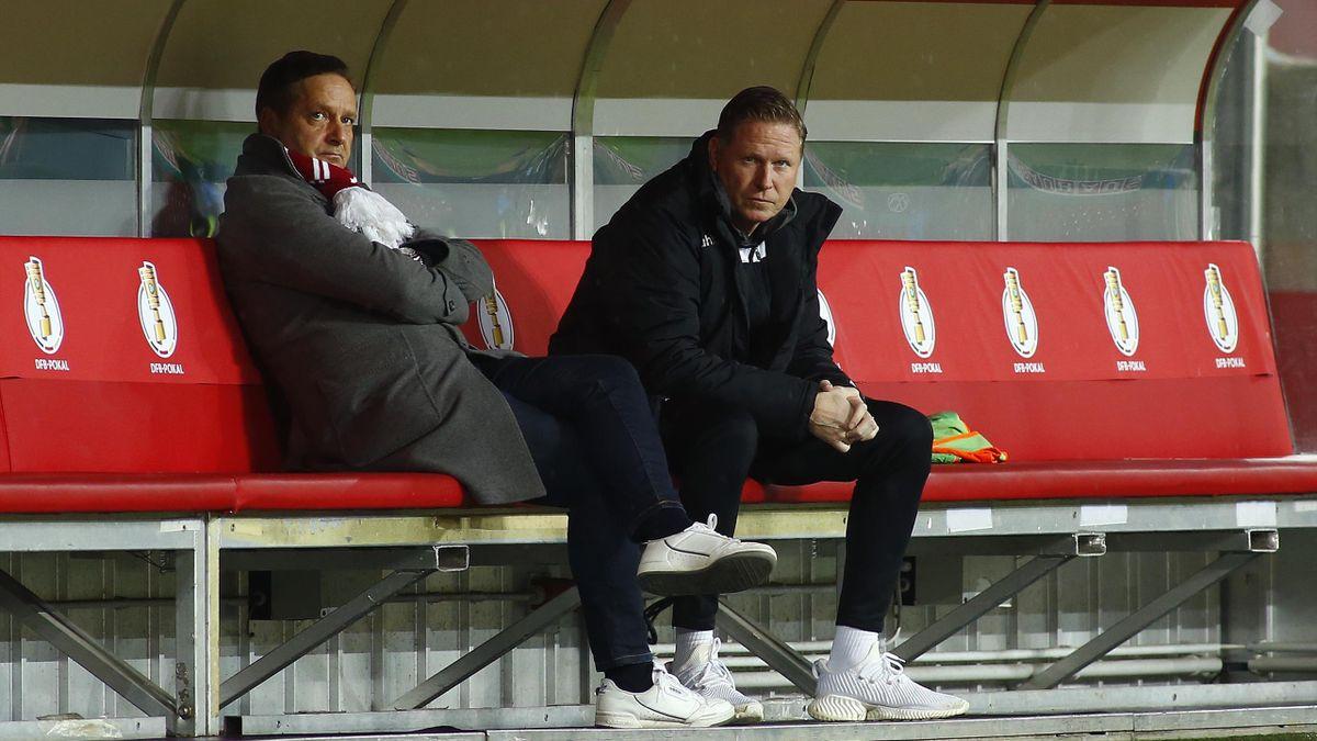 Horst Heldt und Markus Gisdol