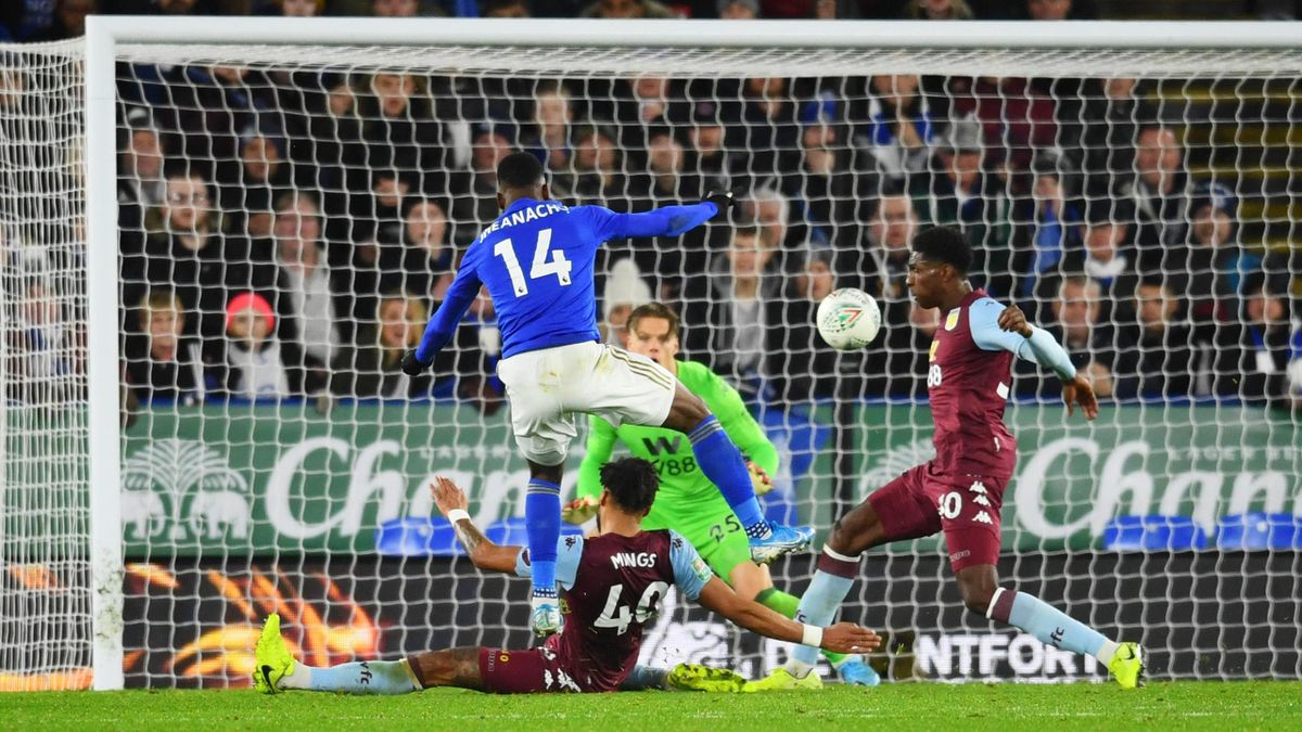 Kelechi Iheanacho - Leicester City-Aston Villa - Carabao Cup League Cup 2019/2020 - Getty Images