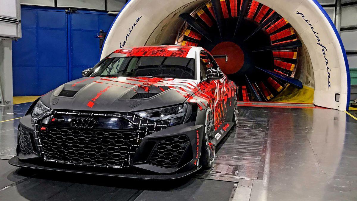 Audi RS3 LMS TCR szélcsatorna