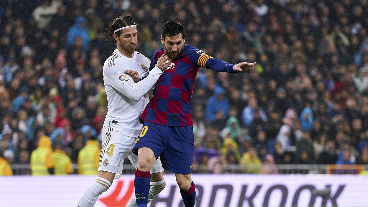 Sergio Ramos and Lionel Messi