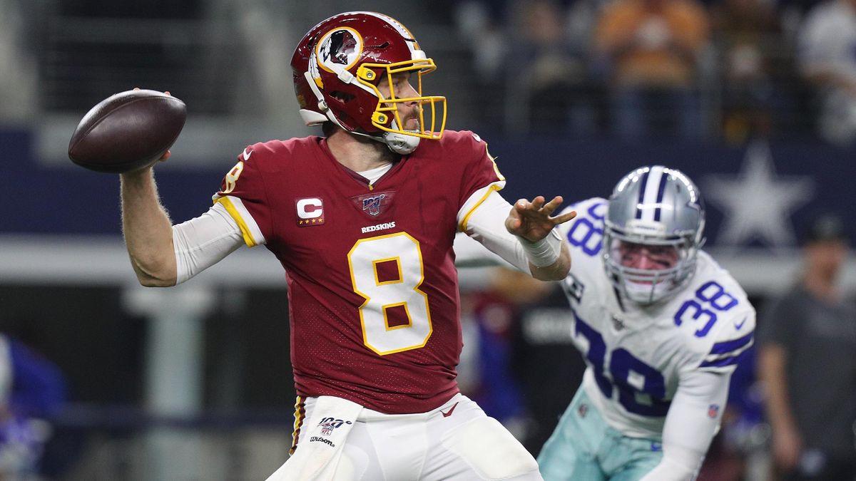 Case Keenum von den Washington Redskins beim Wurf