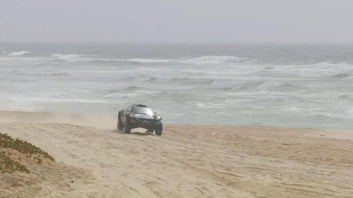 Das RosbergXRacing-Auto beim Rennen im Senegal