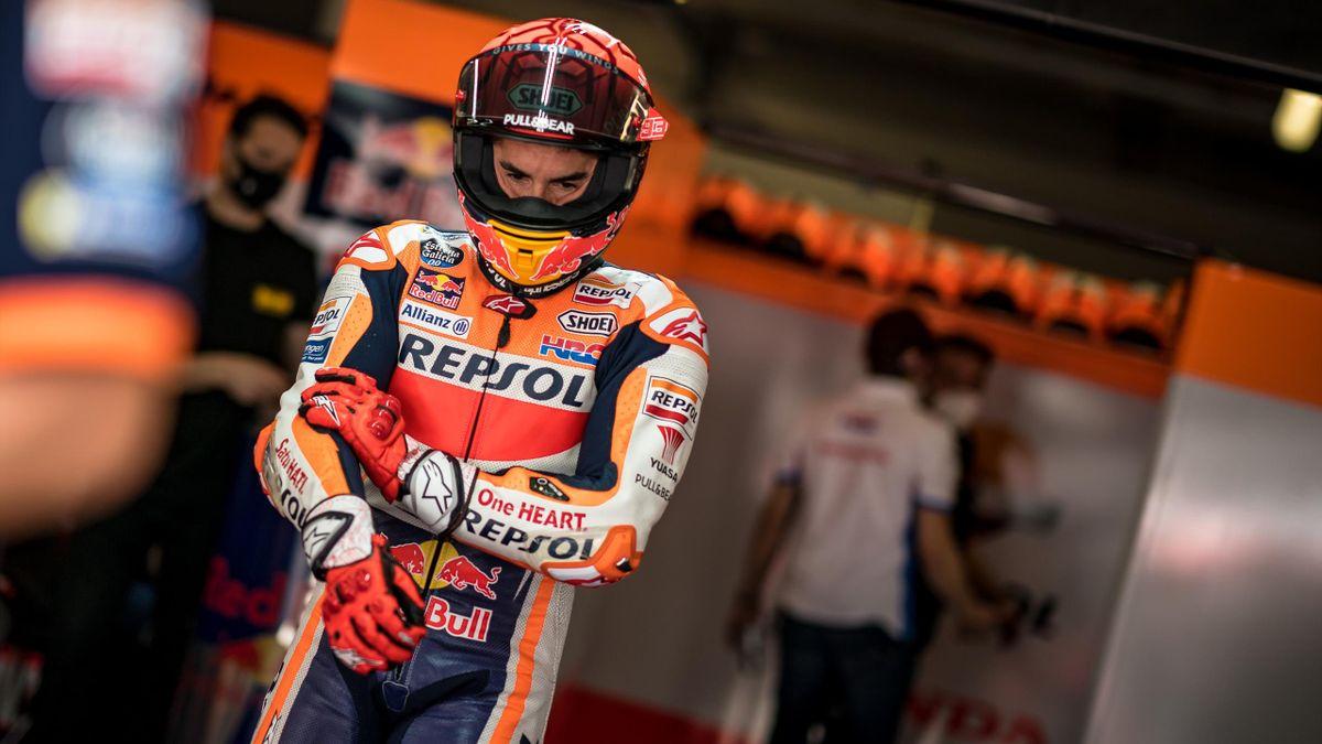 Marc Marquez (Honda) au Grand Prix du Portugal, le 16 avril 2021
